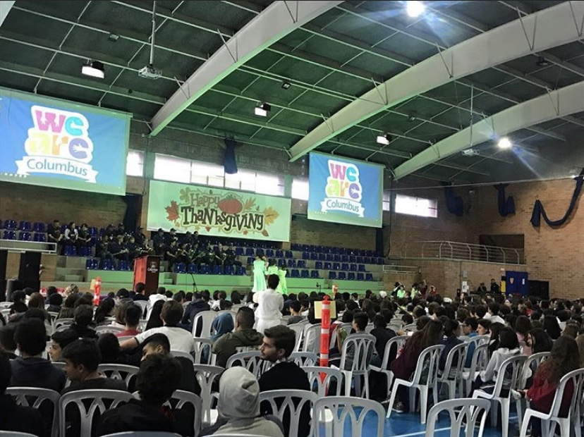 Middle and high school at last year's thanksgiving assembly on November 20th, 2018.