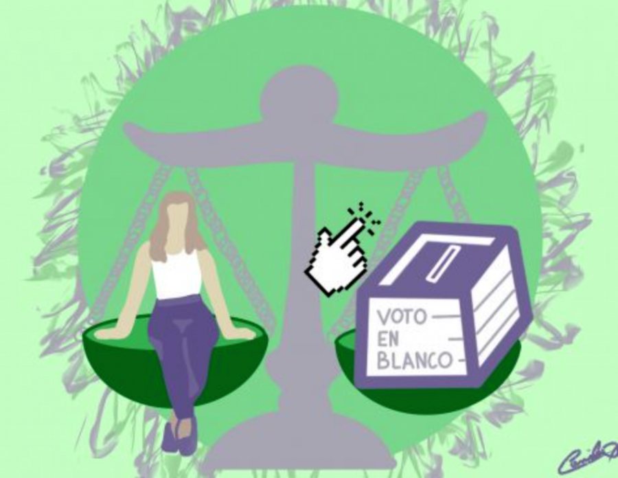 """In High School, the competition of STUCO candidates against the voto en blanco sparks debate as students and former candidates question its use, and claim that when. """"...there's only one representative, that should be it,"""" said former contender against the voto en blanco, and current 12th grade STUCO representative, Nicolás Zarate."""