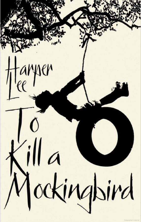 'To Kill a Mockingbird' book cover. The story is set in the mid-1930s in the small town of Maycomb, Alabama. It is narrated by Jean Louise Finch, an unusually intelligent girl who lives with her father Atticus and her ten-year-old brother Jem.