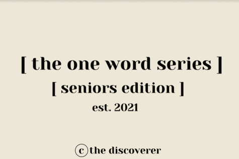 Seniors 2021 Diaries: One Word