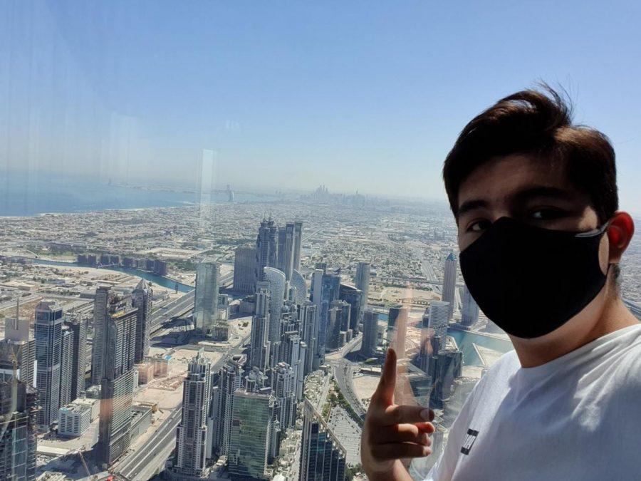 J. Mendez in Dubai before flying to Medellín.